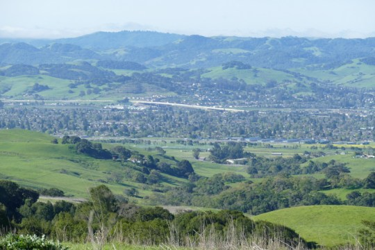 southern Petaluma from Sonoma Mountain