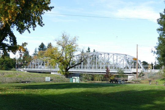 Russian River bridge on Healdsburg Ave. in Healdsburg