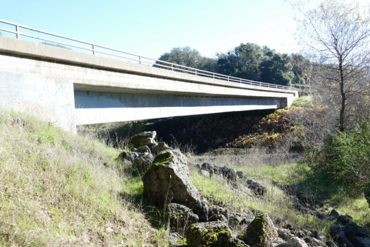 Russian River bridge at East Road
