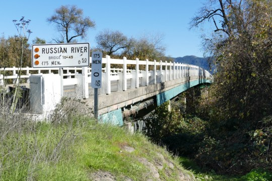 Russian River bridge at CA-175 east of Hopland