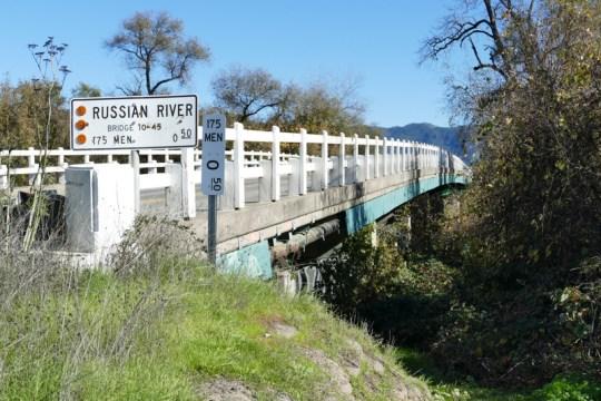 Russian River bridge at CA-175 east of Hopland