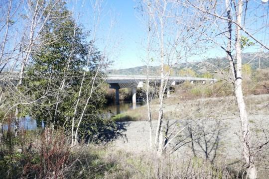 Russian River bridge on CA-128 east of Geyserville.