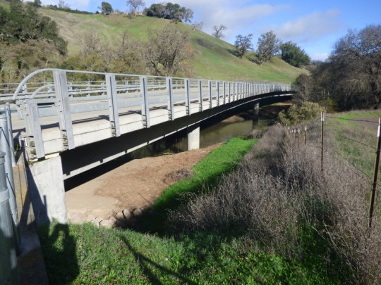 East Fork Russian River bridge on East Road