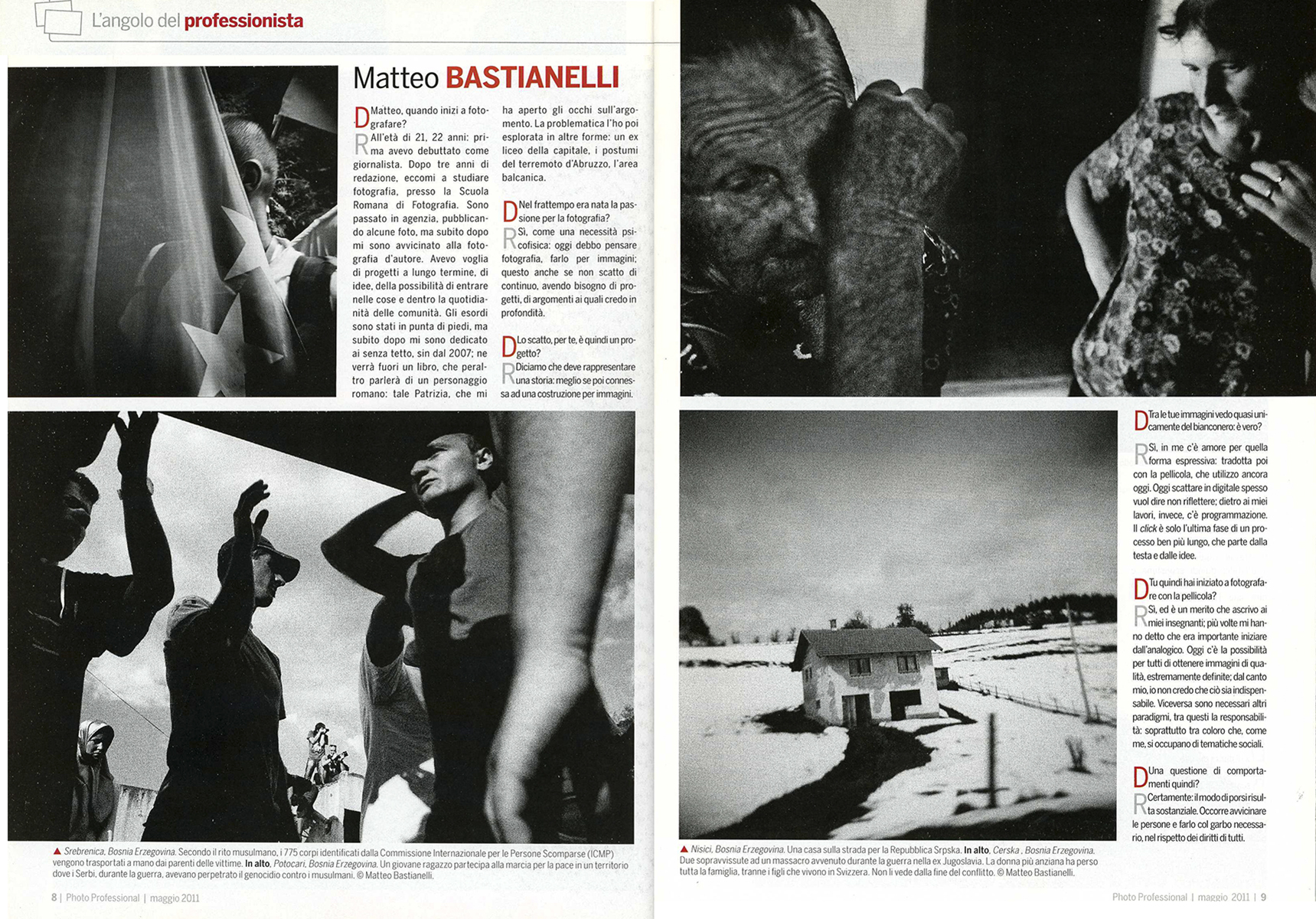 "May 2011 - ""The Bosnian Identity"" published in Photo Professional"