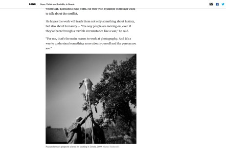 """January 2014 - """"The Bosnian Identity"""" published in """"Lens""""-The New York Times's photography blog."""