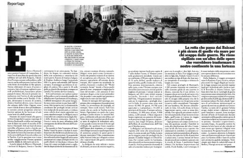 "February 2014 - The first chapter of my long term project ""Souls of Syrians"" published in L'Espresso magazine."