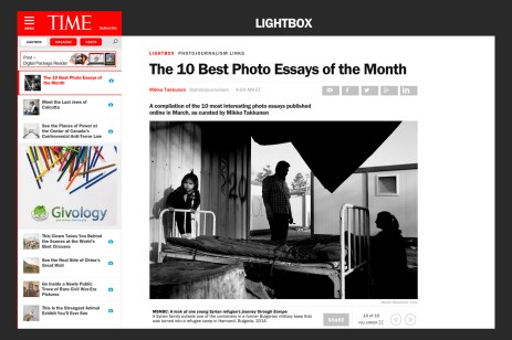 "April 2015 - ""Souls of Syrians"" featured on TIME Lightbox among the 10 best photo essays of the month."