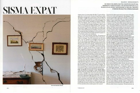 "January 2017- One of my pictures from the series ""Maiora premunt"" published in D- La Repubblica."