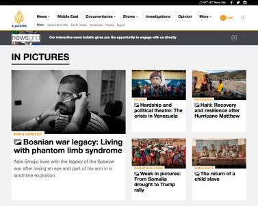 "April 2017 - My long-term project ""Bosnian diaries"" published in Al Jazeera."