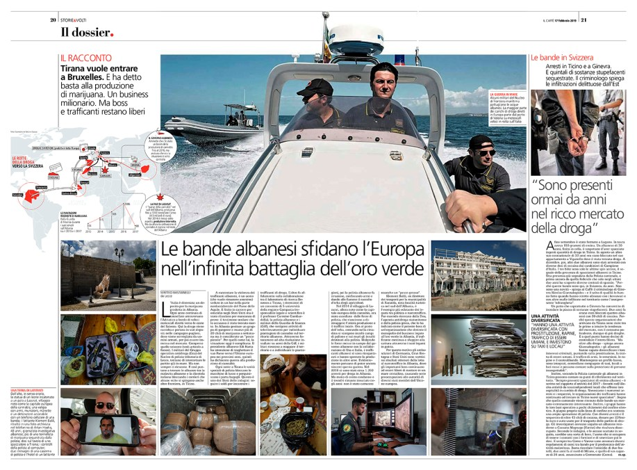 """February 2019 - Text and photographs, part of the long-term project """"Green Gold"""", published in Swiss weekly magazine """"Il Caffè""""."""