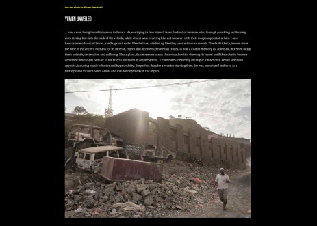 "June 2019 - ""Yemen Unveiled"" has been published on ""Insideover"" with a selection of my photographs, a short documentary film and a text written during my journey in Yemen."