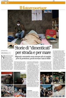 "December 2020 - A selection of my pictures, part of the project ""Not on the same boat"", supported by the National Geographic Society's Emergency Fund for Journalists, were published together with an article on Swiss weekly magazine ""Il Caffè""."