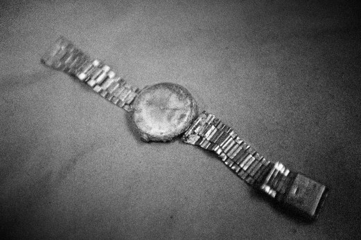 A watch which was found in a mass grave. Tuzla, Bosnia and Herzegovina, 2009. © Matteo Bastianelli