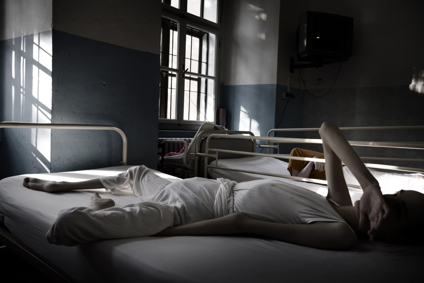 One of the rooms where the children, who are never allowed out of the building due to their precarious state of health, are hospitalized. Gornja Bistra, Croatia 2009. © Matteo Bastianelli
