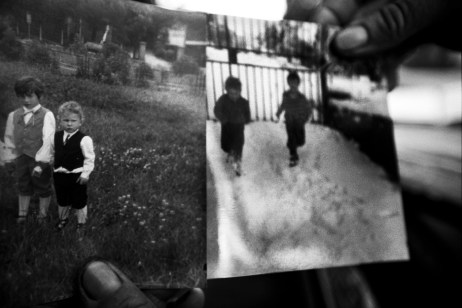 Old photos of Patrizia's children. She hasn't seen them for years. Velletri, Italy 2008. © Matteo Bastianelli
