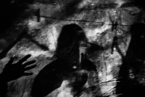 Shadows on the wall in front of Patrizia's car. Velletri, Italy 2009. © Matteo Bastianelli