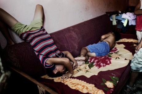 Some children in their bedroom at the Podturen commune (Međimurje), Croatia 2009. © Matteo Bastianelli