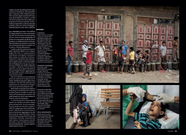 August 2018 - My Yemen project published in the August 2018 issue of National Geographic Italy, with an article written by Nina Strochlic.