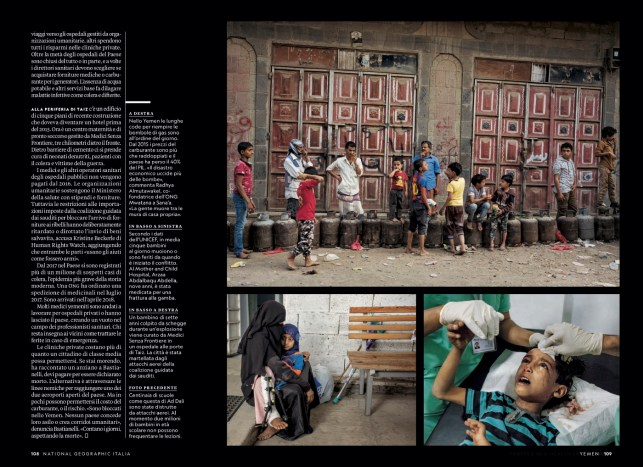 August 2018- My Yemen project published in the August 2018 issue of National Geographic Italy, with an article written by Nina Strochlic.
