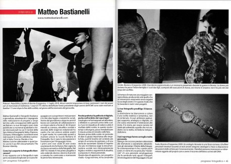 "January 2012 - ""The Bosnian Identity"" published in Progresso Fotografico"