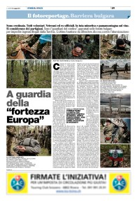 "May 2017- Text and pictures from the series ""Borderline guardians"" published in ""Il Caffè"", a Swiss weekly magazine."