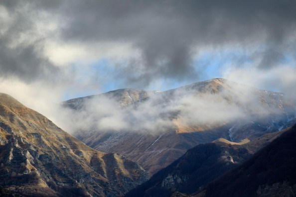 A view of the mountains around Amatrice, Italy 2016. © Matteo Bastianelli
