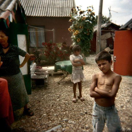 Some children in front of their house. Most Rom children are not included in the Croatian Education System and only a very few get a chance of going on to secondary school and university. Podturen (Međimurje), Croatia 2009. © Matteo Bastianelli
