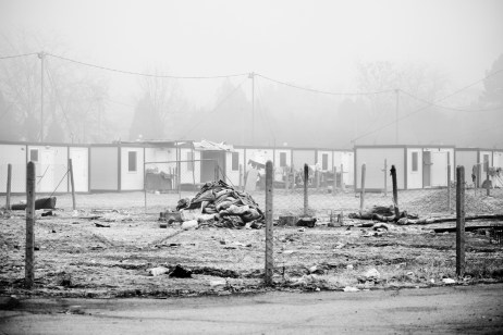 A view of the containers supplied with funds allocated by the European Union. According to one of the latest UNHCR reports more than five million Syrians have fled the war since it began in 2011. Harmanli, Bulgaria 2013. © Matteo Bastianelli