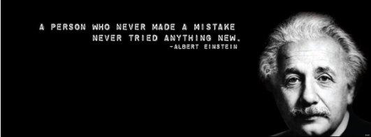 La persona che non fa un errore secondo Einstein