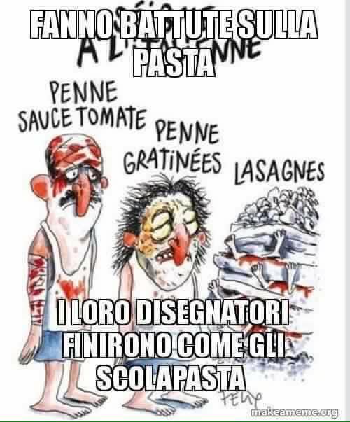 Interpretazione di Facebook della vignetta di Charlie Ebdo