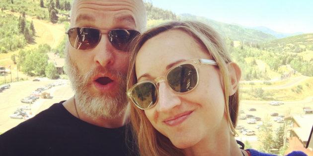 """Mèlanie Bernet e Marito nella Foto pubblicata da """"L'Huffington Post"""""""