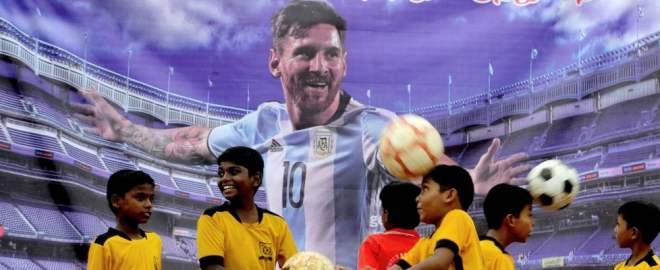 """Immagine di Messi scelta da """"La Repubblica"""""""