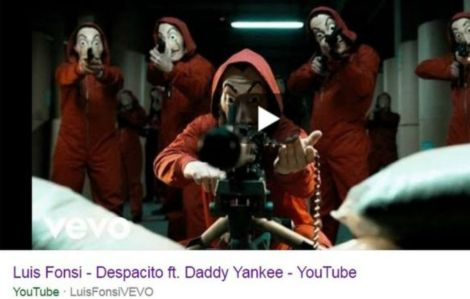 "Un frame del video caricato dagli hacker al posto di ""Despasito"""
