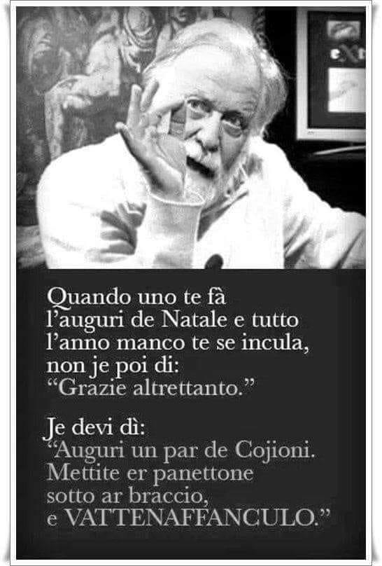Auguri di Gianfranco Funari