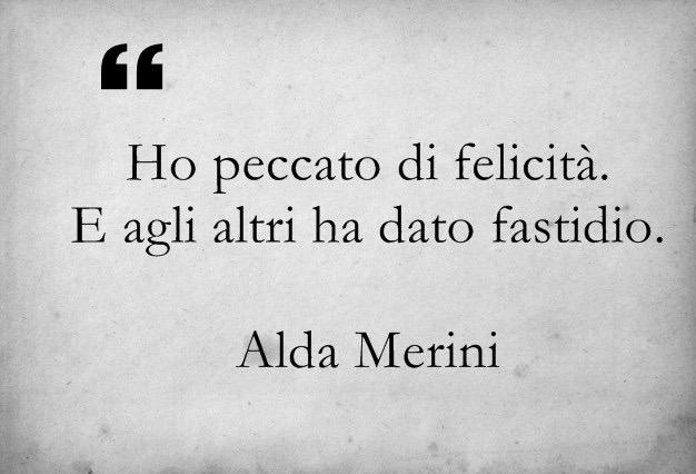 Un peccato secondo Alda Merini