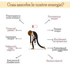 Cosa assorbe le nostre energie ?