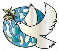 dove and world, stylized