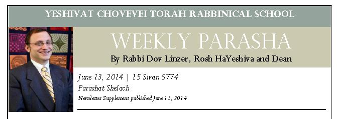 top of 13 June 2014 YCT Newsletter Parashah