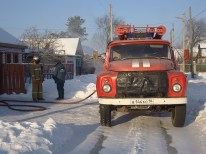 Fire brigade attending a sauna fire