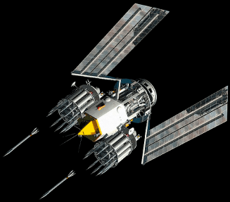 Prototype kinetic weaponized satellite.