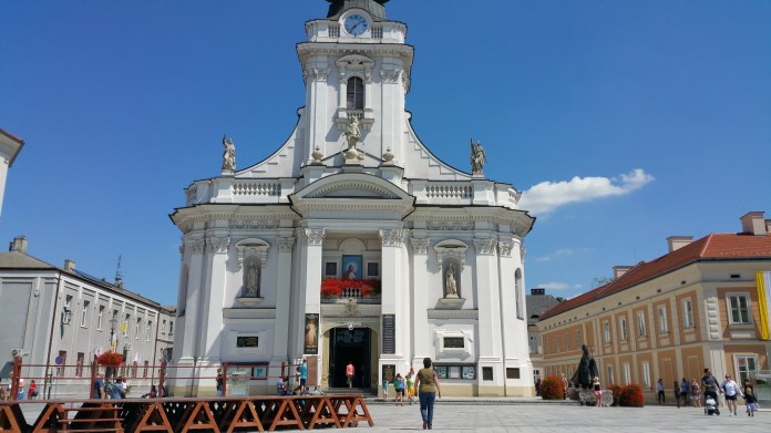 The Basilica of the Presentation of the Blessed Virgin Mary in Wadowice, Poland. This is the hometown of Pope Saint John Paul II.