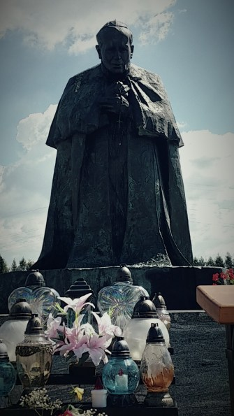 Statue of Pope Saint John Paul II in Ludzmierz, Poland.
