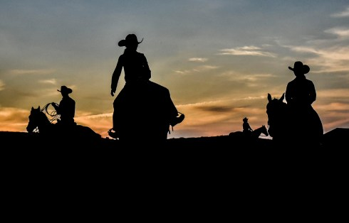 Riders continue to work out their horses late into night during the first day of the Wessington Springs Foothills Rodeo on Saturday, May 28 at the Jerauld County 4-H arena.