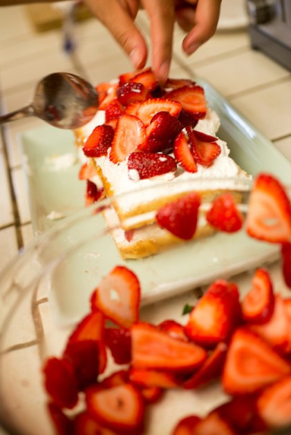 Making Strawberry Shortcake