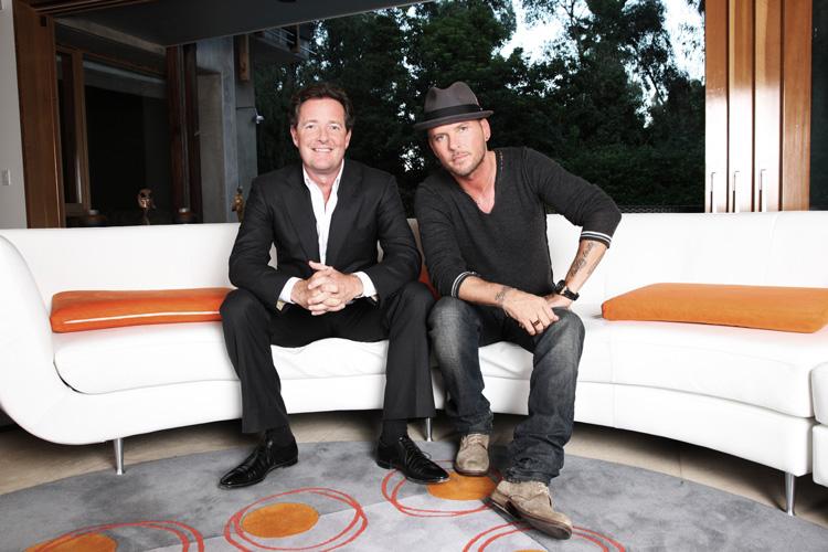 Matt and Piers Morgan