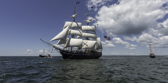 Morgan under sail