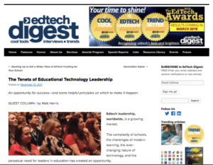 The Tenets of Educational Technology Leadership - Introduction - EdTech Digest