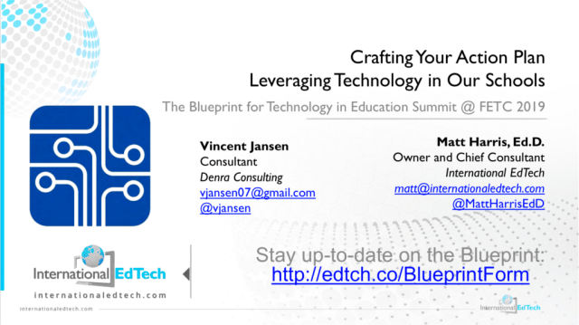 Crafting Your Action Plan Leveraging Technology in Our Schools - FETC 2019