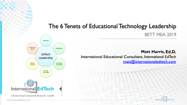 BETT MEA 2019 - Being An EdTech Leader - BETT MEA 2019
