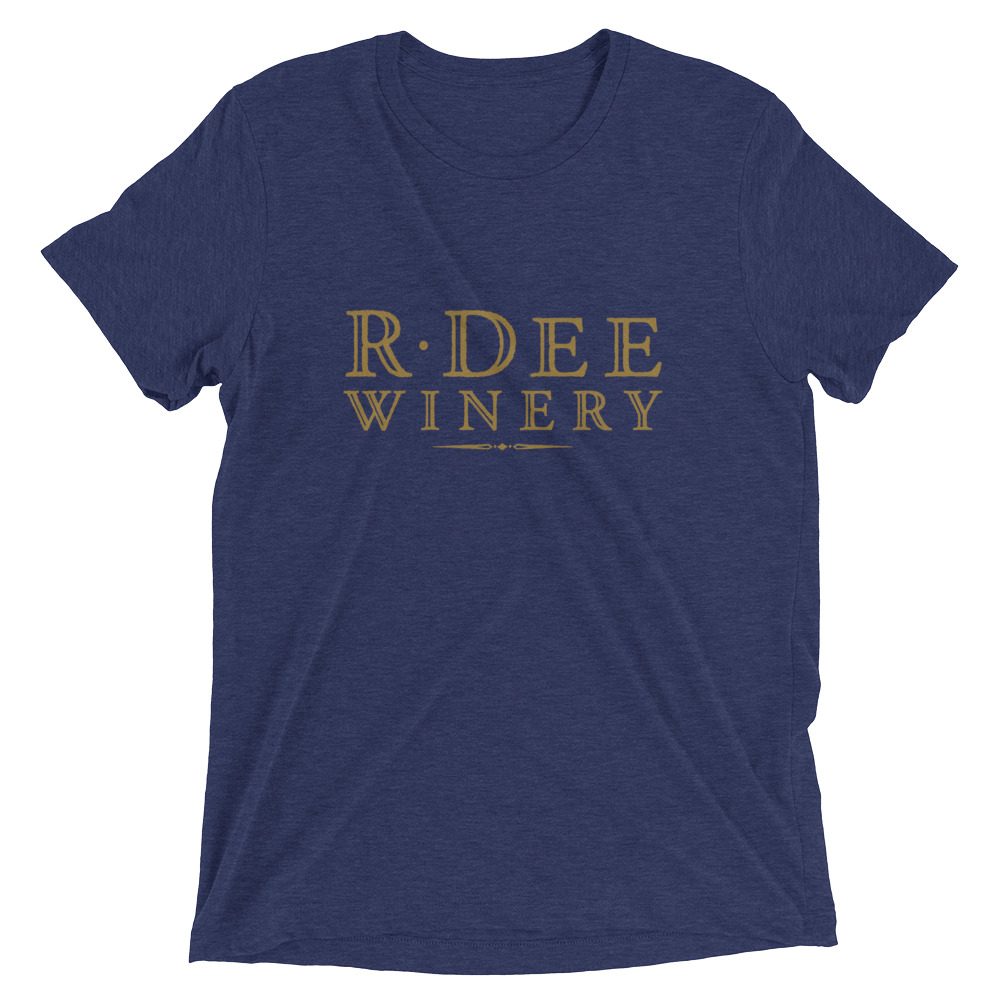 R Dee Winery blue t-shirt - front
